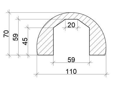 b3 Бревно декоративное  70х110 2 метра
